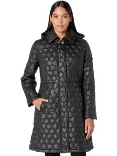Комбинированная куртка Onion / Diamond Quilt с капюшоном Via Spiga