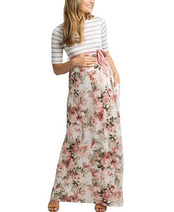Женское макси-платье для беременных Forence с цветочным рисунком Savi Mom