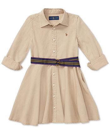 Малышка Chino Хлопок Рубашка Ralph Lauren