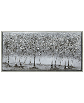 "Solitary Field Textured Metallic Hand Painted Wall Art by Martin Edwards, 24"" x 48"" x 1.5"" Empire Art Direct"