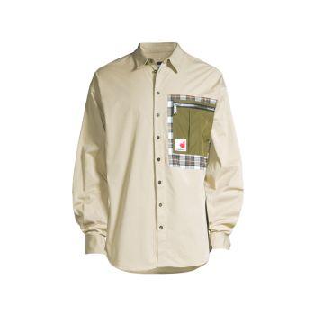 Рубашка на пуговицах с длинным рукавом Patch Drop DSQUARED2