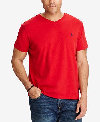 Мужская футболка классического кроя с V-образным вырезом для больших и высоких Ralph Lauren
