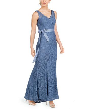 Кружевное платье с V-образным вырезом Adrianna Papell