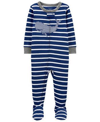 Пижамный комплект Footie для малышей Whale Snug Fit Carter's