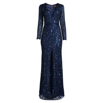 Вечернее платье с глубоким вырезом MAC DUGGAL