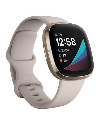 Смарт-часы Sense Lunar с белым ремешком, 39 мм Fitbit