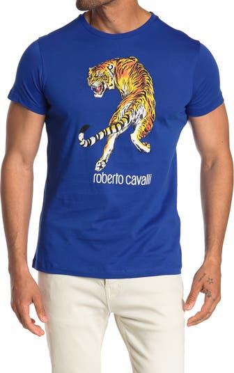 Футболка с логотипом Tiger Roberto Cavalli