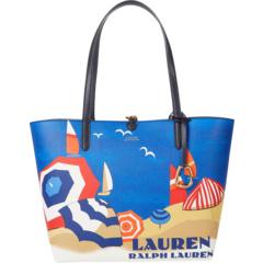 Двусторонняя большая сумка из искусственной гальки Ralph Lauren