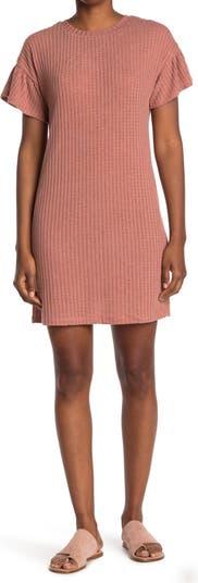 Платье прямого кроя с оборками на рукавах Collective Concepts