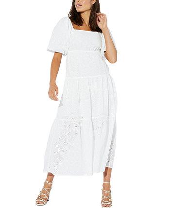 Luna Smock Cotton Maxi Dress MINKPINK
