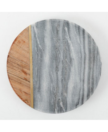 Laurie Gates Marble & Wood Trivet Gibson