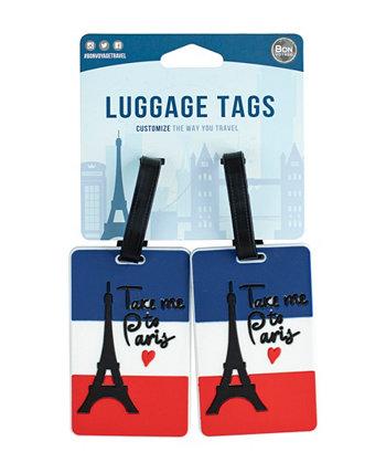 Городские Тематические 2-ПК. Набор багажных бирок Bon Voyage