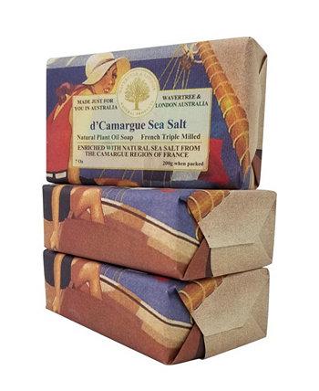 Французское мыло с морской солью в упаковке по 3 штуки, каждая по 7 унций Wavertree & London