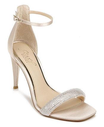 Женские пасхальные вечерние сандалии на высоком каблуке Jewel Badgley Mischka
