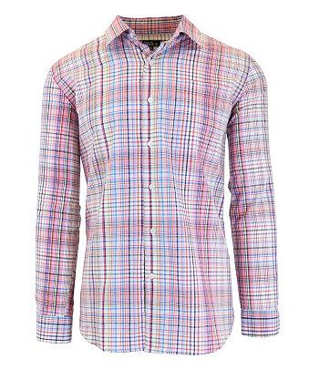 Мужские облегающие рубашки с длинным рукавом из хлопка с принтом Galaxy By Harvic