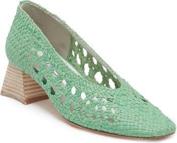 Тканые кожаные туфли Marina Miista