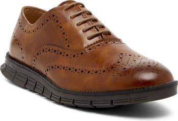 Benton Lace-Up Brogue Oxford - Wide Width Available Deer Stags