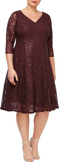 Lace V-Neck Dress SLNY