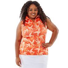 Рубашка-поло большого размера без рукавов Nancy Lopez Soar Nancy Lopez