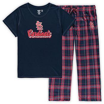 Women's Concepts Sport Navy St. Louis Cardinals Plus Size T-Shirt and Flannel Pants Sleep Set Unbranded