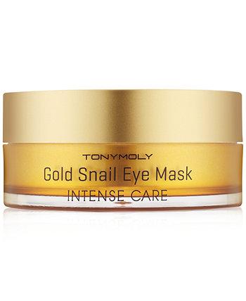 Интенсивный уход Золотая маска для глаз Улитка, 60 шт. (30 пар) TONYMOLY