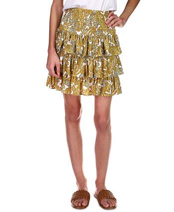 Многослойная юбка с принтом пейсли, стандартные и маленькие размеры Michael Kors