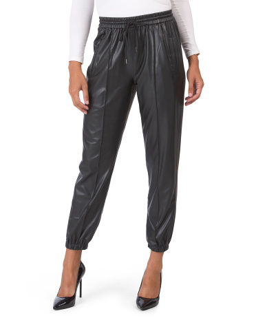 Faux Leather Joggers Blank NYC