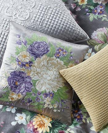 """Классическая декоративная подушка Grand Bouquet 20 """"x 20"""", созданная для Macy's Hotel Collection"""