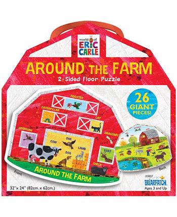 Мир Эрика Карла - Вокруг фермы 2-сторонняя головоломка для пола - 26 штук Briarpatch