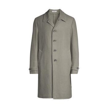 Пальто дастер из смесовой шерсти BOGLIOLI
