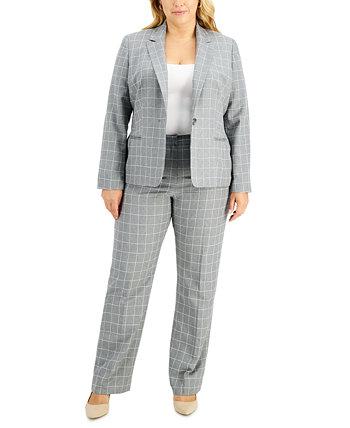 Костюм больших размеров в клетку с брюками Le Suit