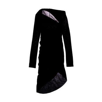 Асимметричное платье Scala с вырезом Helmut Lang