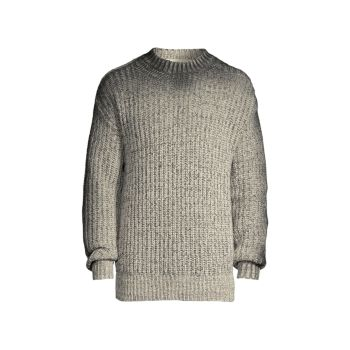 Sprayed Outline Mouliné Shetland Wool Sweater MARNI