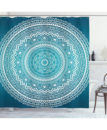 Turquoise Ombre Shower Curtain Ambesonne