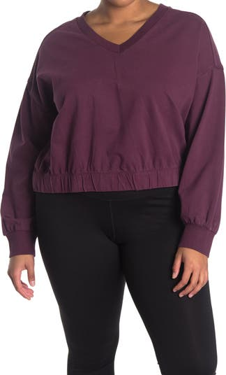 Re-Gen V-Neck Pullover Z By Zella