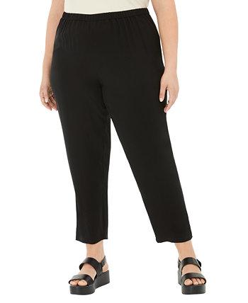 Плюс размер шёлковые брюки Eileen Fisher