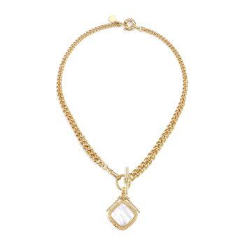 Сиена, позолоченная, 24 карат, & amp; Ожерелье с подвеской из перламутра Gas Bijoux