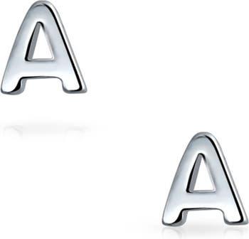 Серьги из стерлингового серебра с заглавными буквами и буквами Bling Jewelry