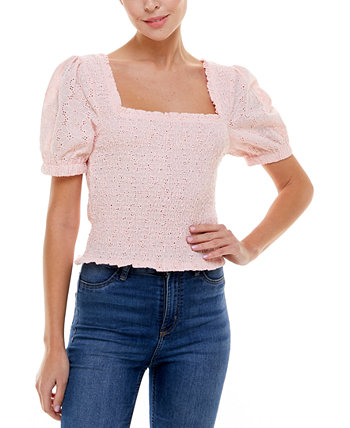 Блуза со сборками и пуговицами с прорезями Q & A