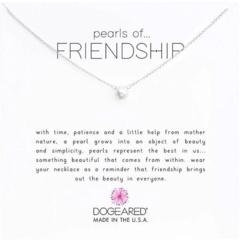 Маленькое белое жемчужное колье с жемчугом дружбы Dogeared