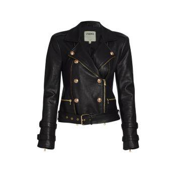Кожаная куртка Billie с поясом L'AGENCE