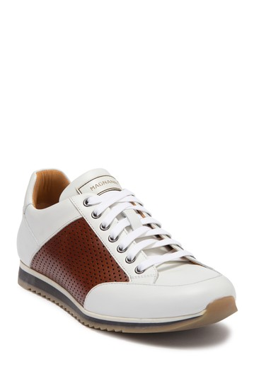 Chaz Perforated Leather Sneaker Magnanni