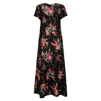 Шелковое платье из свободного твила с цветочным рисунком La DoubleJ