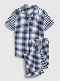 Детский пижамный комплект с принтом в мелкую клетку Gap