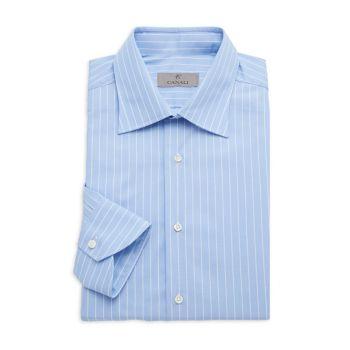 Modern-Fit Pinstriped Dress Shirt Canali