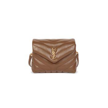 Кожаная сумка через плечо Mini Loulou Matelassé Saint Laurent