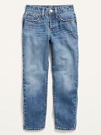 ПОПСУГАР x Old Navy High-Waisted O.G. Узкие прямые джинсы средней стирки Old Navy
