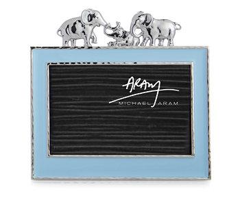 Слон 4x6 дюймов, синяя рамка MICHAEL ARAM