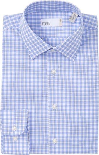 Классическая рубашка с принтом в мелкую клетку и отделкой Nordstrom Rack