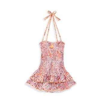 Маленькая девочка & amp; Платье Yoana для девочек со сборками Poupette St Barth